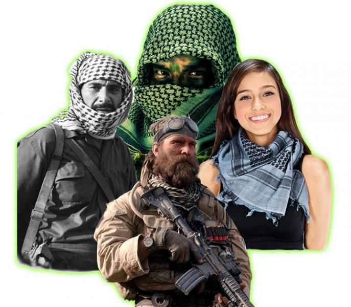fotos oficiales 58312 1dc49 Bufanda Shemagh: una historia de tradición, moda y combate ...