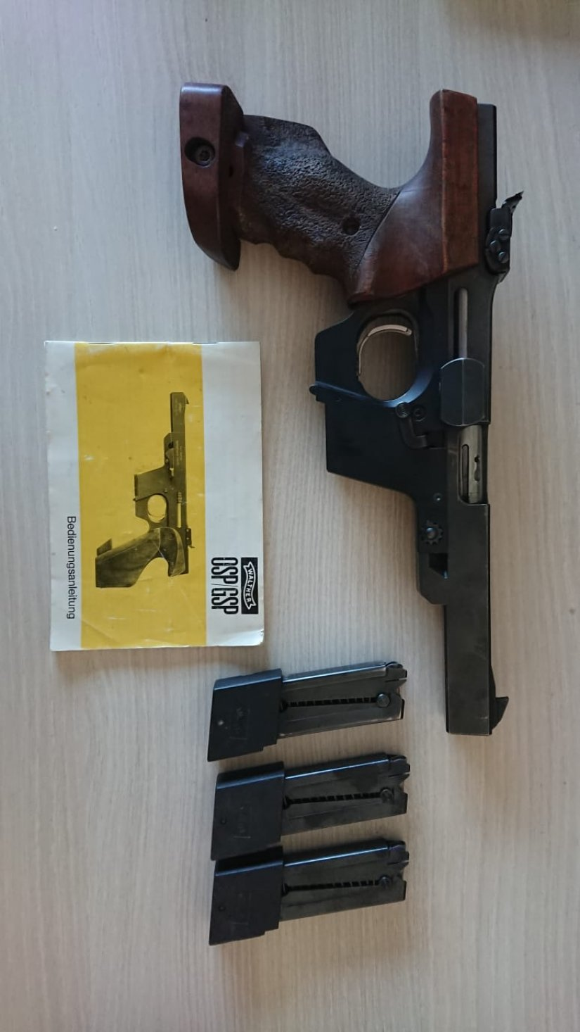Imagen Walther GSP cal.22 +carro cal.32