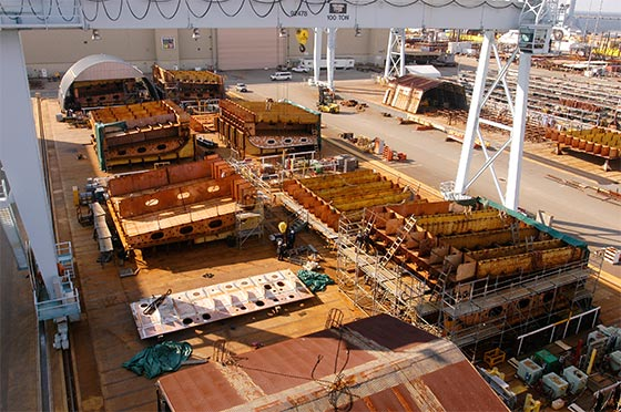 CVN-78 Structural units on final assembly.jpg