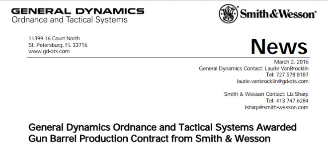 armas smith wesson general dynamics 2
