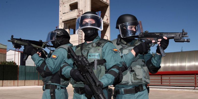 armas chalecos guardia civil