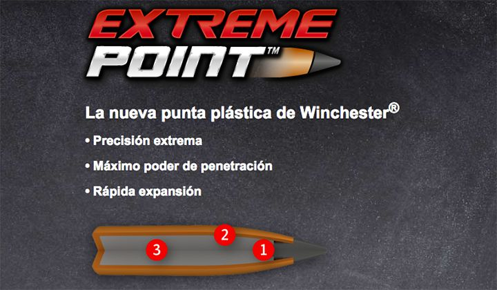 armas bala winchester extreme point
