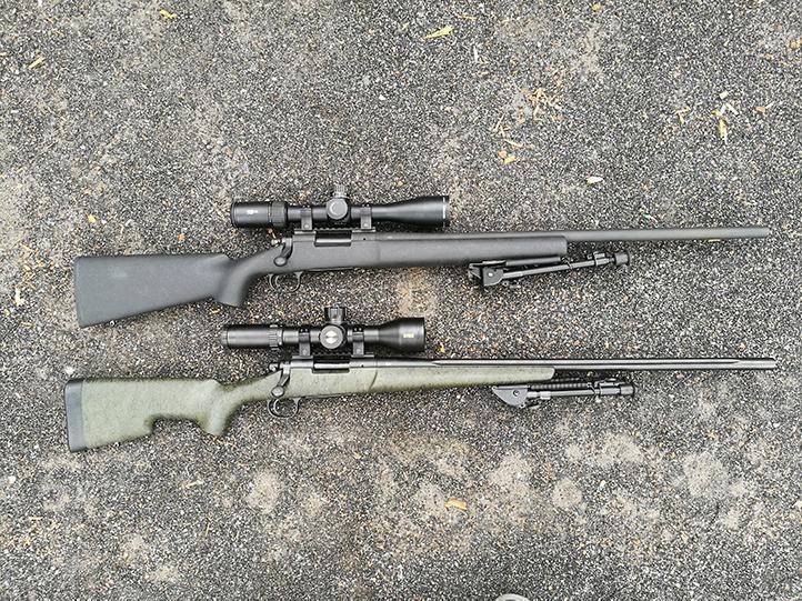 Estoque de comparação geral Remington 700 XCR com Remington 700 Police