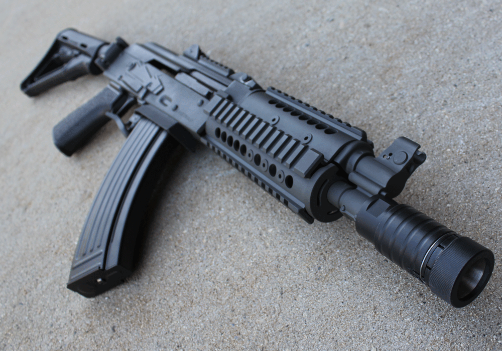 Custom AK 47 with krinkov flash hider